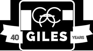 Giles 40 years logo
